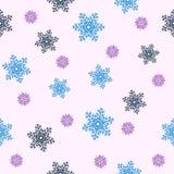 无缝背景的圣诞节 蓝色雪花 免版税图库摄影