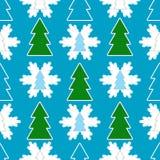 无缝背景的圣诞节 库存例证