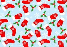 无缝背景的圣诞节 免版税库存照片