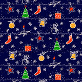 无缝背景的圣诞节 库存照片
