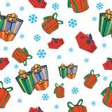 无缝背景的圣诞节 免版税库存图片