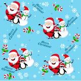 无缝背景的圣诞节 库存图片