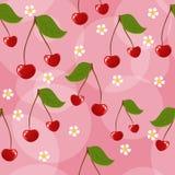 无缝背景的樱桃 库存图片