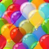 无缝背景的气球 免版税图库摄影