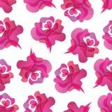 无缝背景的玫瑰 免版税库存照片