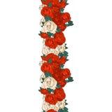 无缝背景的玫瑰 库存照片