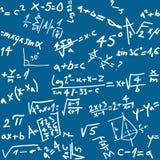 无缝背景的算术 库存例证