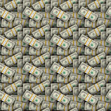 无缝背景的美元 免版税库存图片
