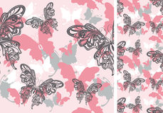 无缝背景的蝴蝶 库存图片