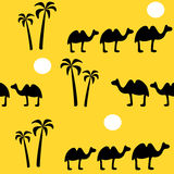 无缝背景的骆驼 库存例证