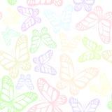 无缝背景的蝴蝶 免版税库存照片