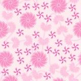 无缝背景花卉模式的粉红色 库存例证