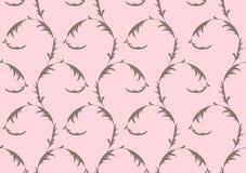 无缝背景花卉灰色模式的粉红色 向量例证