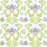 无缝背景花卉的模式 花卉模式向量 库存图片