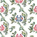 无缝背景花卉的模式 花卉模式向量 免版税库存照片