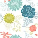 无缝背景蓝色的花 库存照片