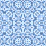 无缝背景蓝色的马赛克 皇族释放例证