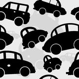 无缝背景黑色的汽车 免版税库存图片
