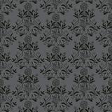 无缝背景fashio的花饰 免版税库存图片