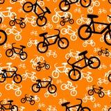 无缝自行车的模式 库存图片