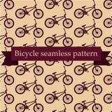 无缝自行车的模式 免版税库存图片
