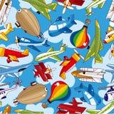 无缝航空的模式 免版税库存照片