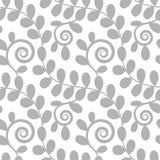 无缝花卉叶子的模式 免版税库存照片
