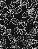 无缝花卉模式的玫瑰 库存照片