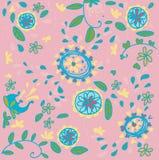 无缝花卉模式的粉红色 免版税图库摄影