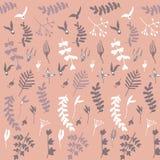 无缝花卉模式的粉红色 图库摄影