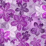 无缝花卉灰色的模式 免版税库存图片