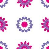 无缝花卉的模式 与抽象花的传染媒介例证 免版税图库摄影