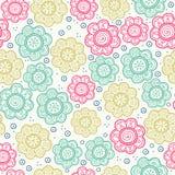 无缝花卉的模式 也corel凹道例证向量 背景 不尽的纹理可以为打印使用在织品和纸上 免版税库存照片
