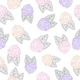 无缝花卉的模式 也corel凹道例证向量 皇族释放例证