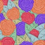 无缝花卉的模式 也corel凹道例证向量 库存例证