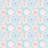 无缝花卉的模式 也corel凹道例证向量 库存图片