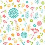 无缝花卉的模式 五颜六色的例证 库存照片