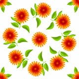 无缝花卉的模式 传染媒介水彩花 皇族释放例证