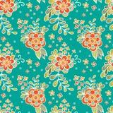 无缝花卉的模式 在葡萄酒样式的花Garden.vector花卉背景 免版税图库摄影