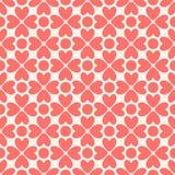 无缝花卉的模式 红色和白色破旧 免版税库存图片