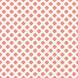 无缝花卉的模式 红色和白色破旧 免版税图库摄影