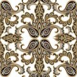 无缝花卉的模式 背景花光playnig 东方装饰品 免版税库存图片