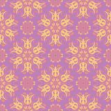 无缝花卉的模式 色的背景 免版税库存图片