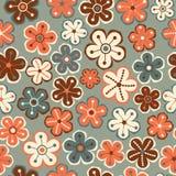 无缝花卉的模式 花纹理 雏菊 库存图片
