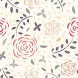 无缝花卉的模式 库存照片