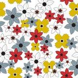 无缝花卉的花纹花样 免版税库存照片