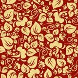 无缝花卉金的模式 皇族释放例证