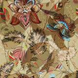 无缝花卉轻的模式 手拉的背景 五颜六色的背景 样式可以为织品,墙纸使用 免版税库存图片
