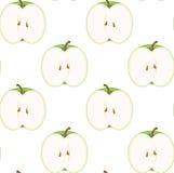 无缝苹果的模式 免版税库存图片