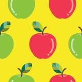 无缝苹果的模式 免版税图库摄影